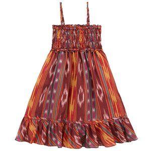 Ralph Lauren Girls Smocked Boho Gauze Dress Sz 12